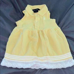 9 month Yellow & White Ralph Lauren Summer Dress